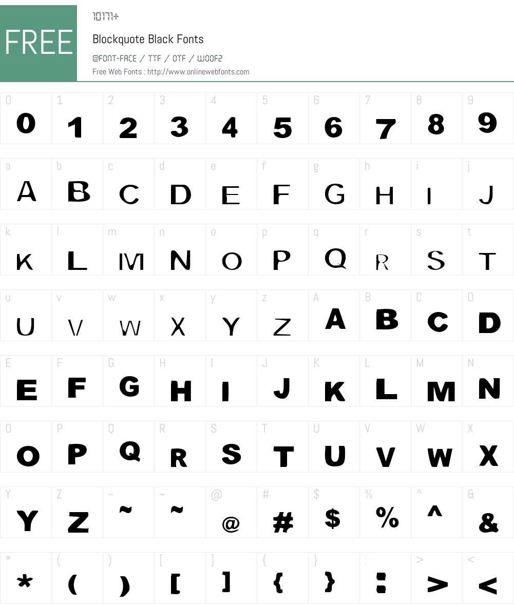 Blockquote Font Screenshots