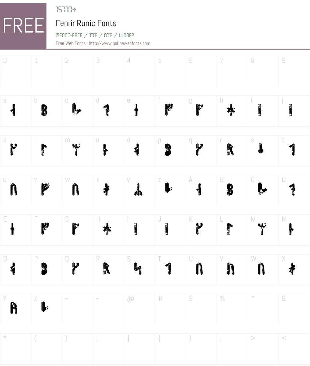 Fenrir Runic Font Screenshots
