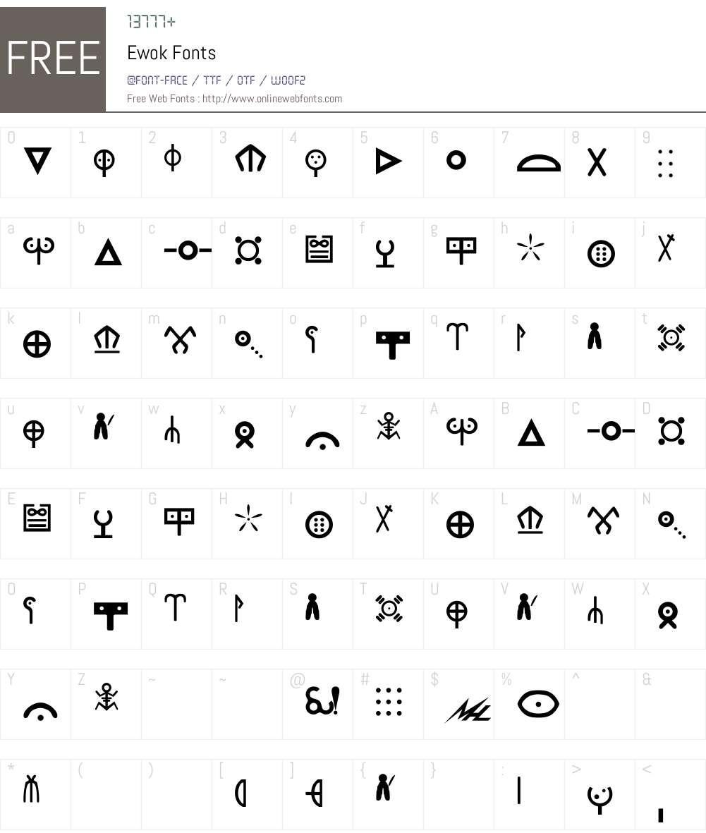 Ewok Font Screenshots