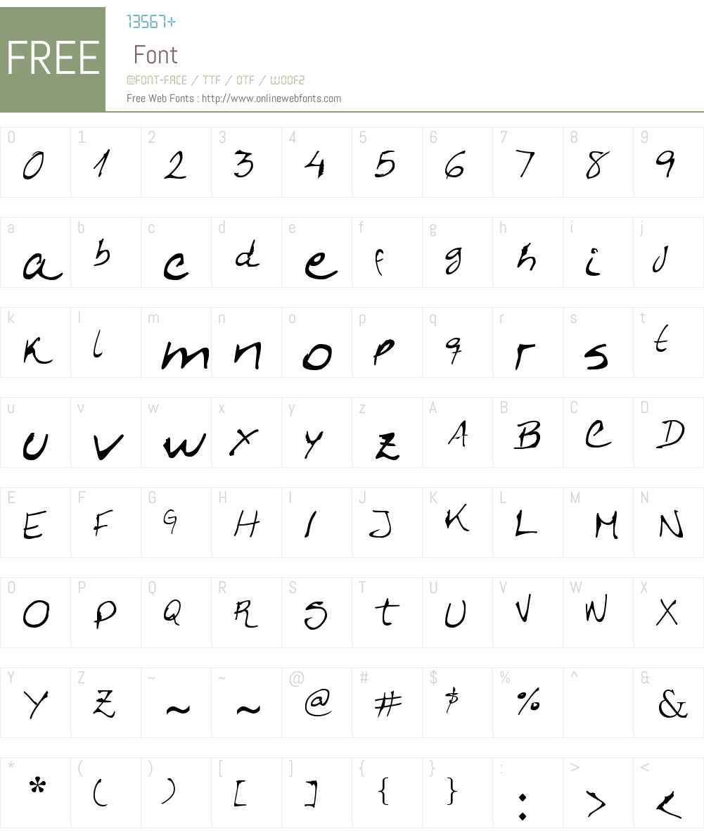 Caligrafica Arito Font Screenshots