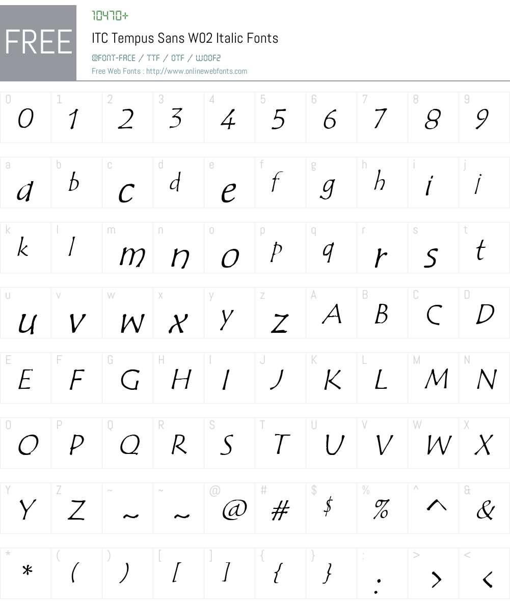 ITC Tempus Sans Font Screenshots