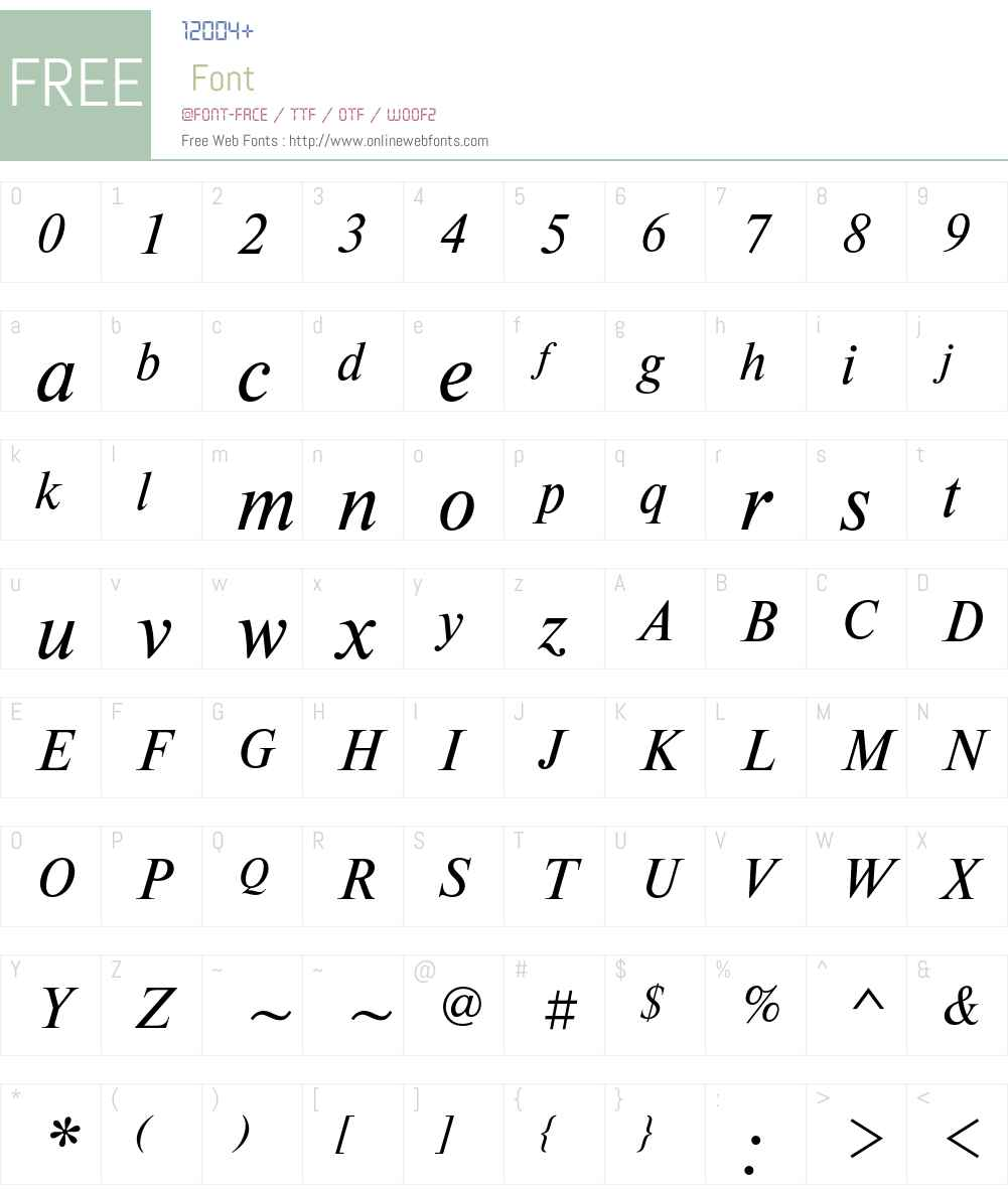 NewtonC Font Screenshots