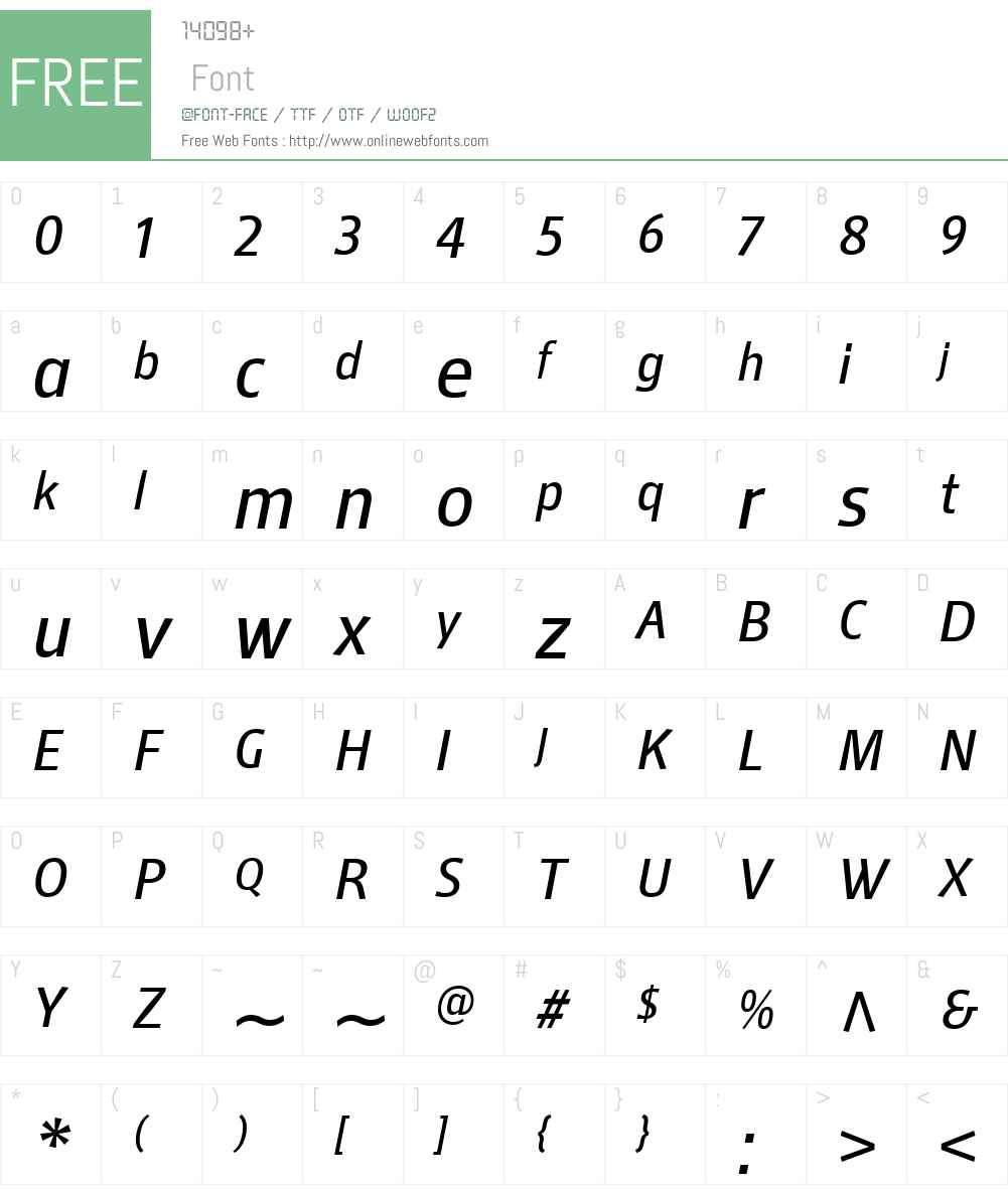 MellnikTextW01-LightItal Font Screenshots