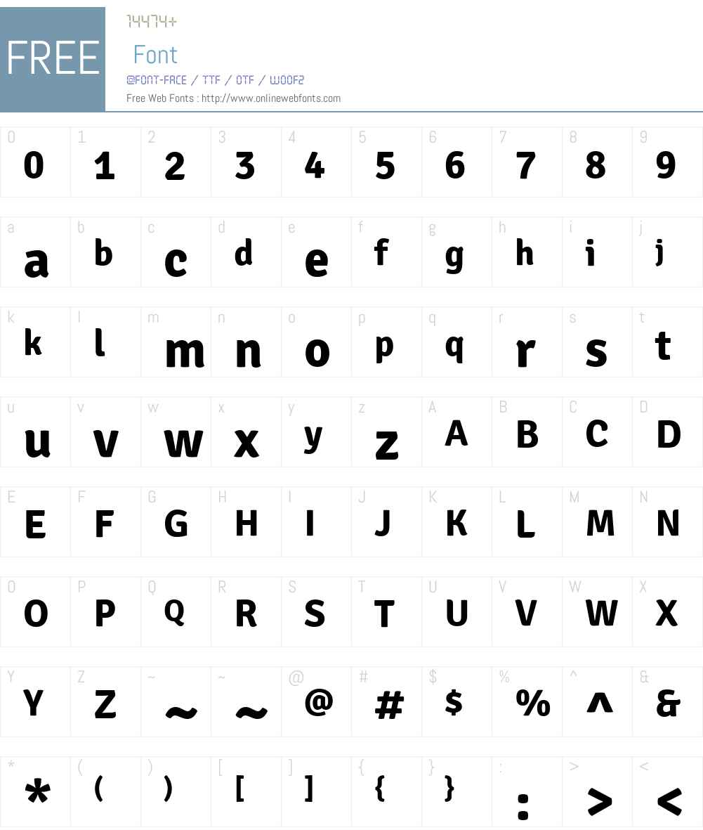 Signika Font Screenshots