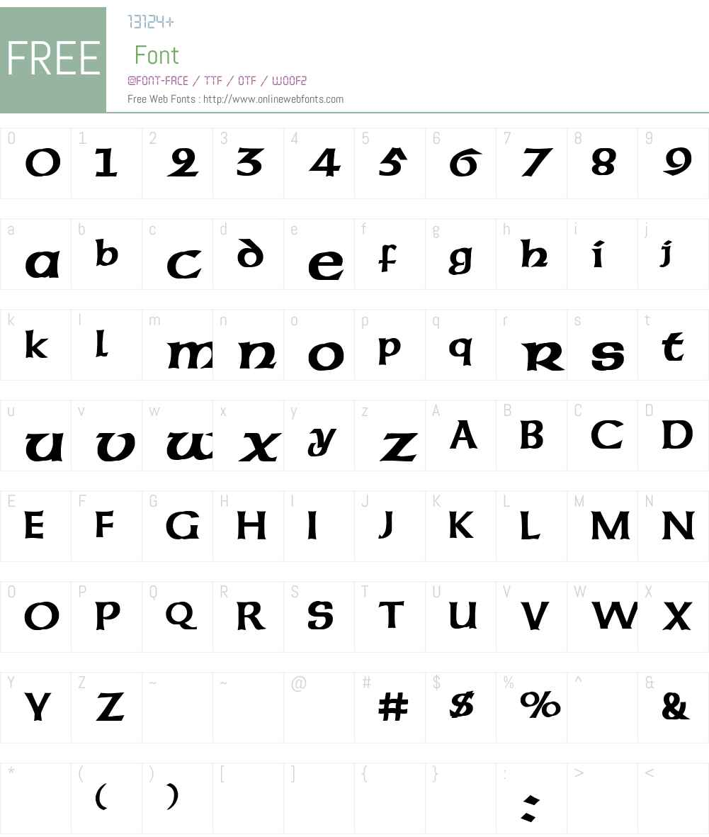 Celtic Font Screenshots