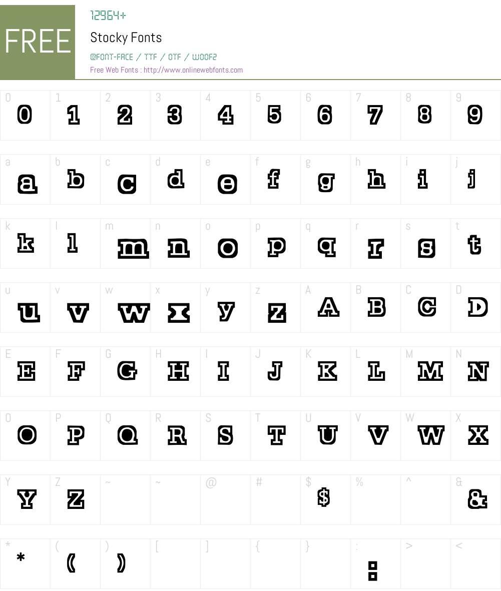 Stocky Font Screenshots