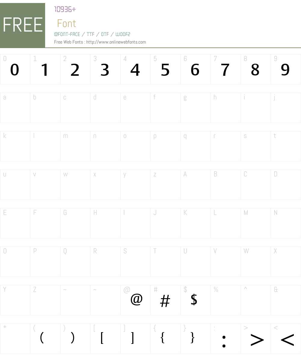 BerytusW23-Medium Font Screenshots