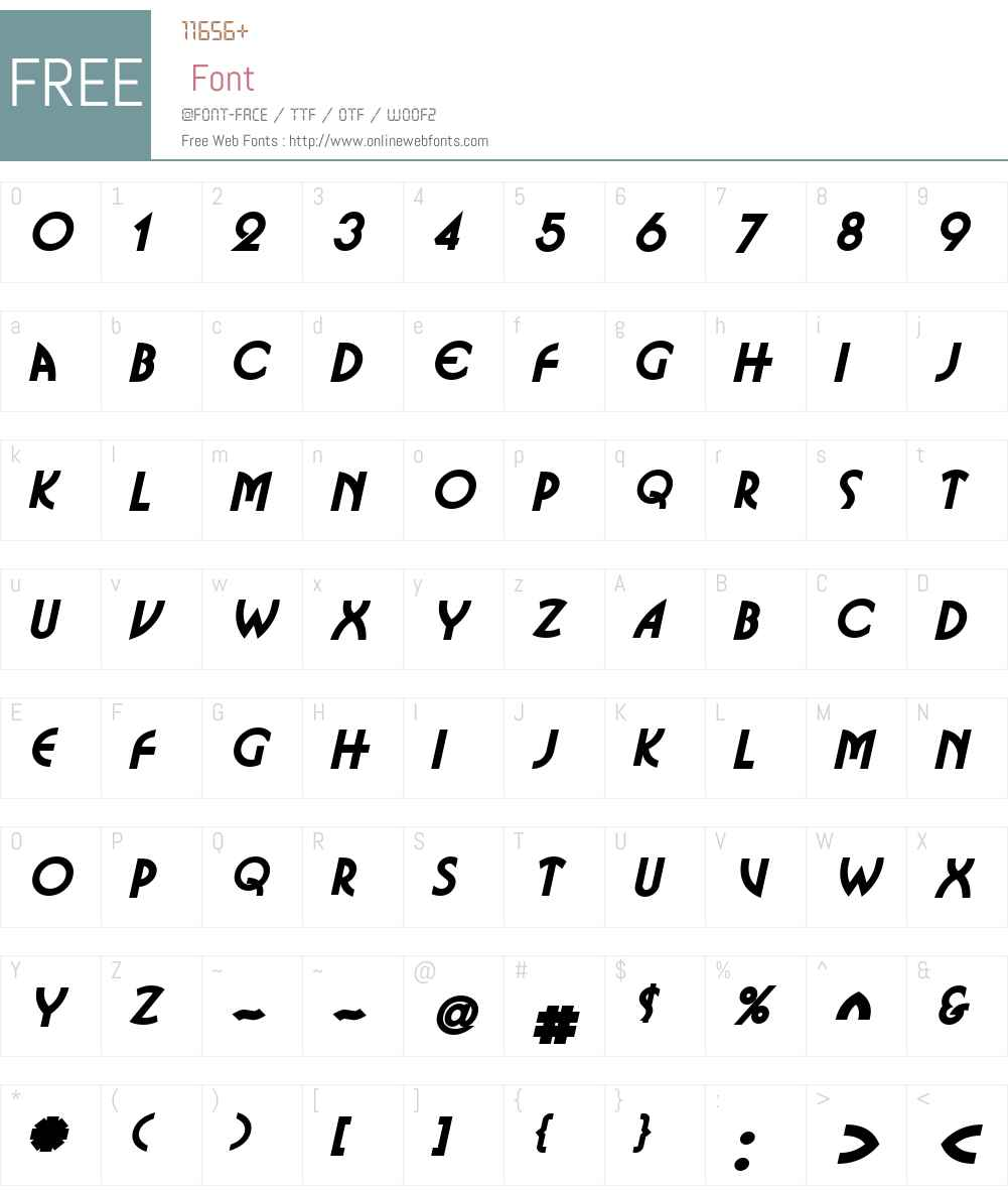 Busso Wide Font Screenshots