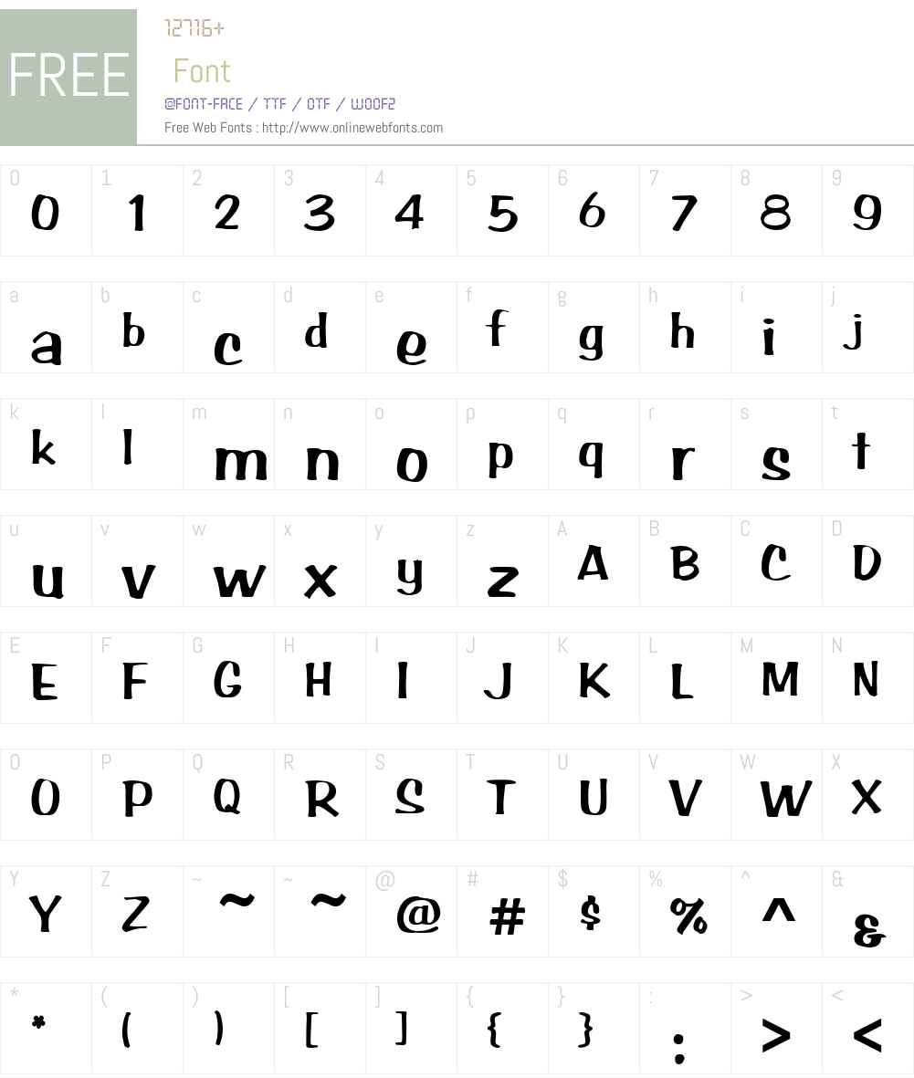 ArabBrushstrokeW01 Font Screenshots