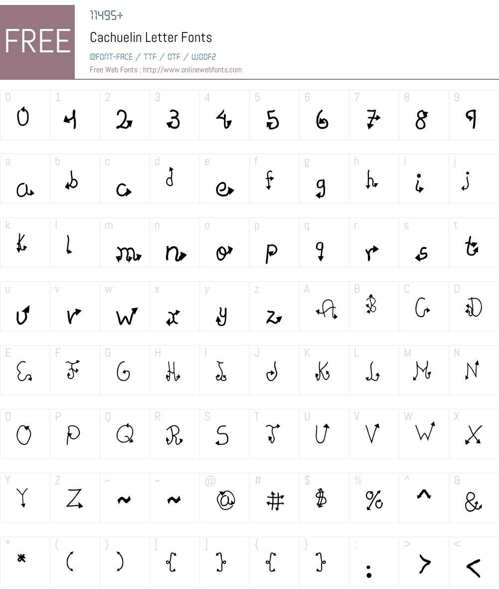 Cachuelin Letter Font Screenshots