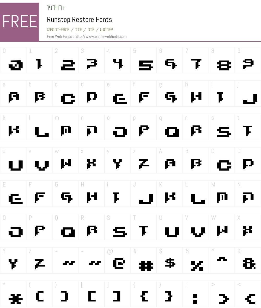 Runstop Restore Font Screenshots