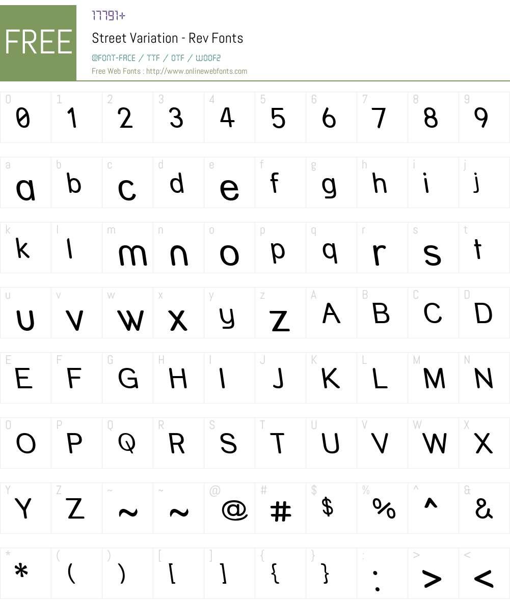 Street Variation - Rev Font Screenshots