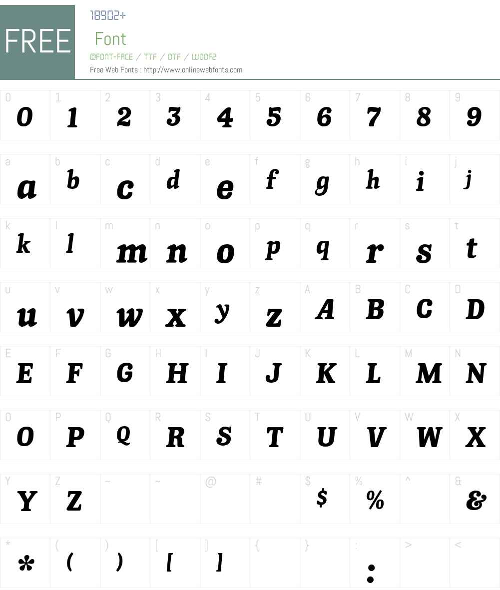 KnightsbridgeEF Font Screenshots