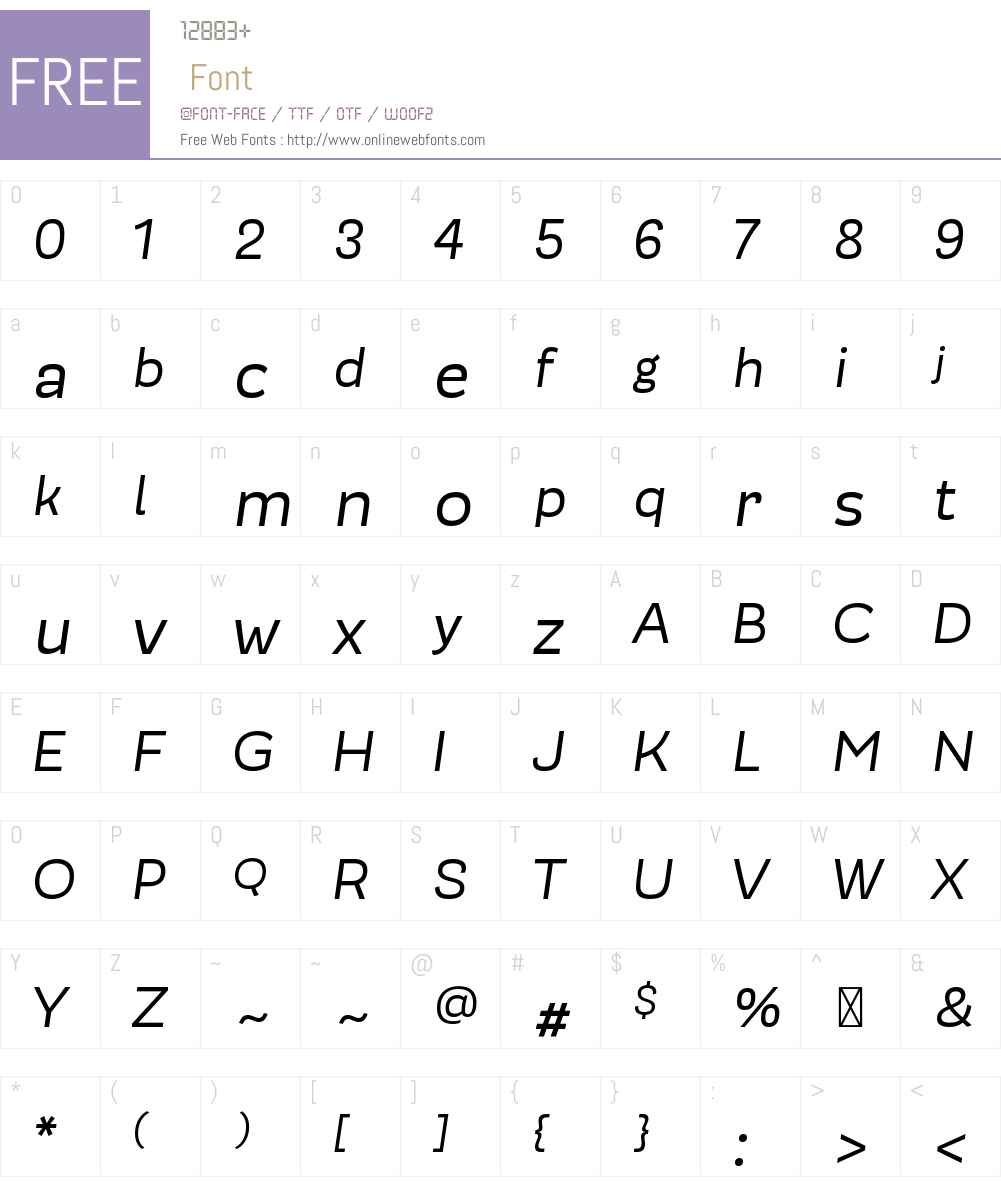 ModernicaOfficeW00-Italic Font Screenshots