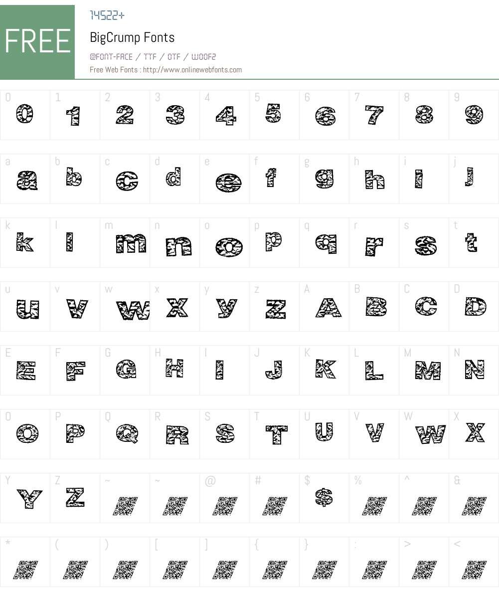 BigCrump Font Screenshots