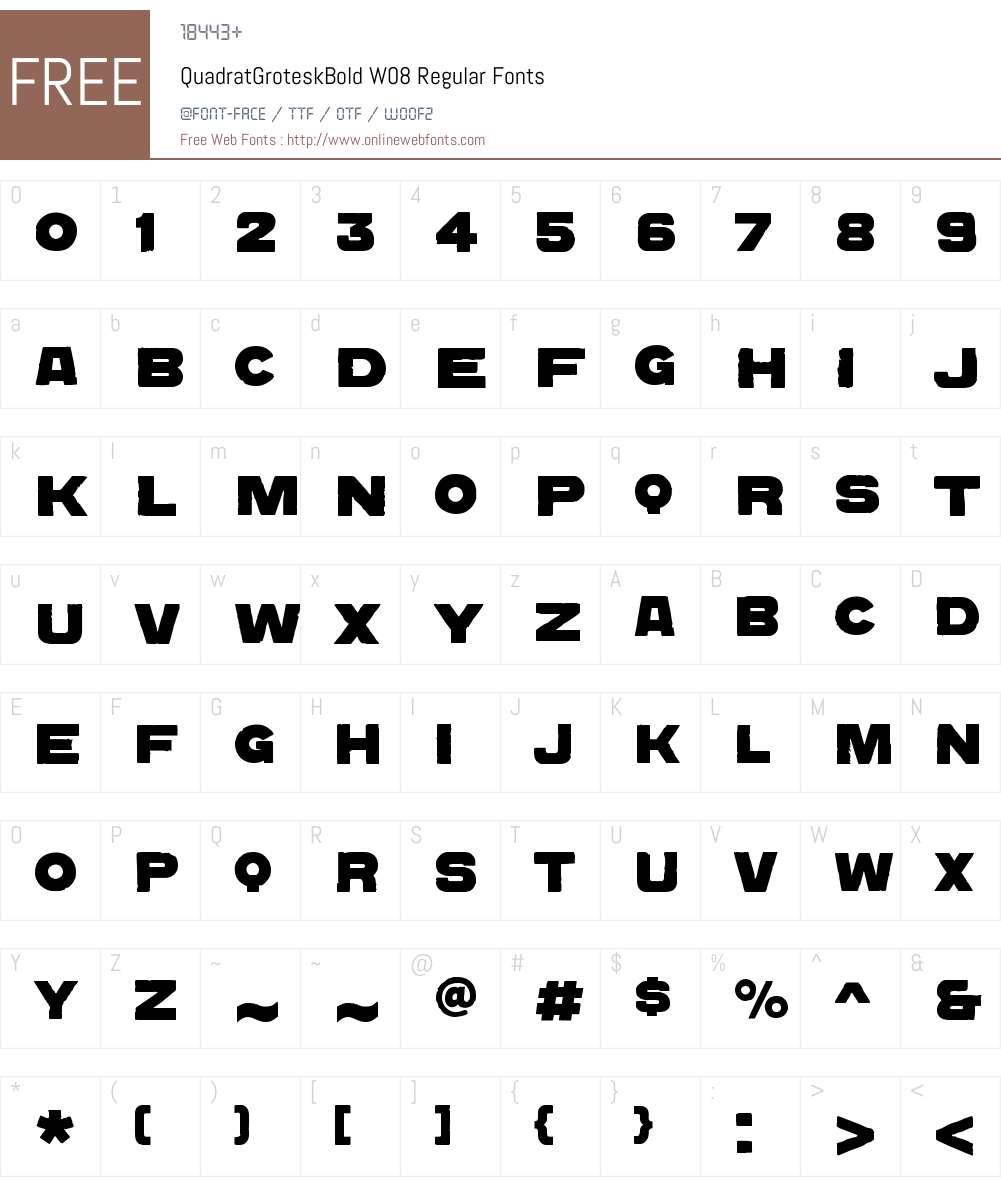 Quadrat Grotesk Font Screenshots