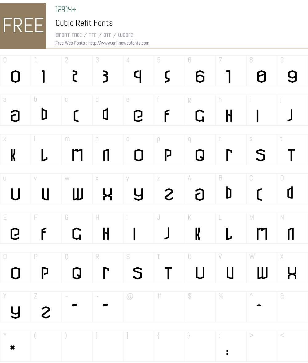 Cubic Refit Font Screenshots