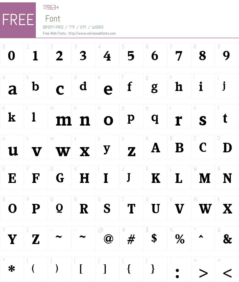 KandalW01-Bold Font Screenshots