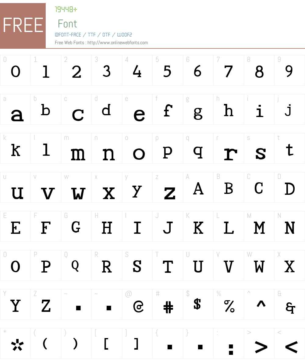 Tye Paloon Font Screenshots