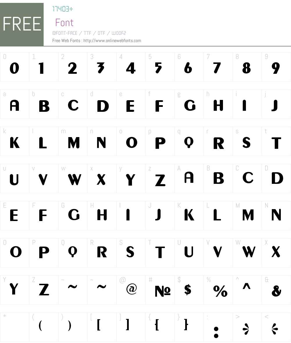 Gilgongo Kaps Font Screenshots