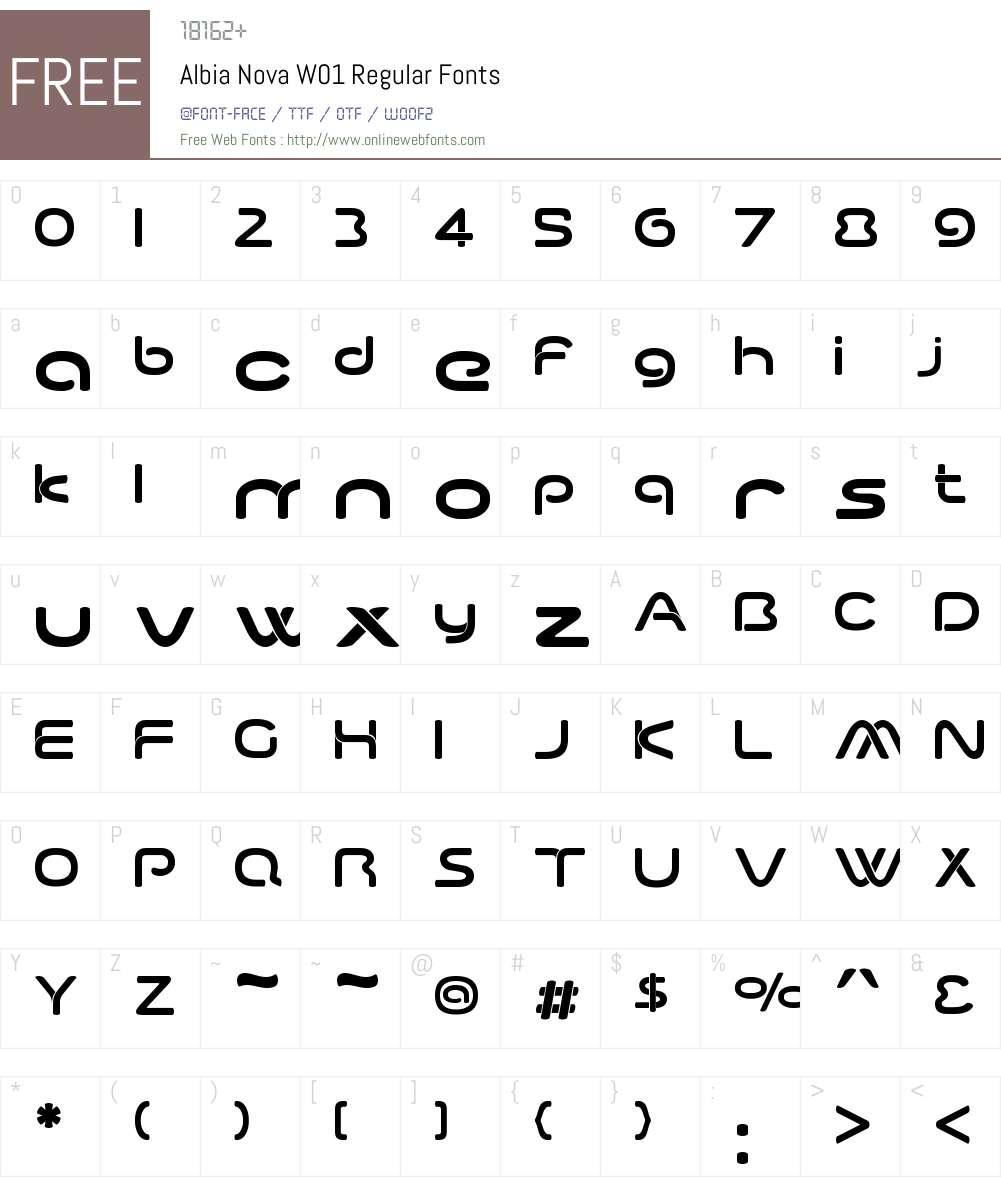 AlbiaNovaW01-Regular Font Screenshots