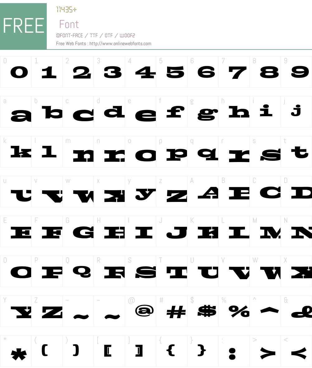 Zapata Font Screenshots