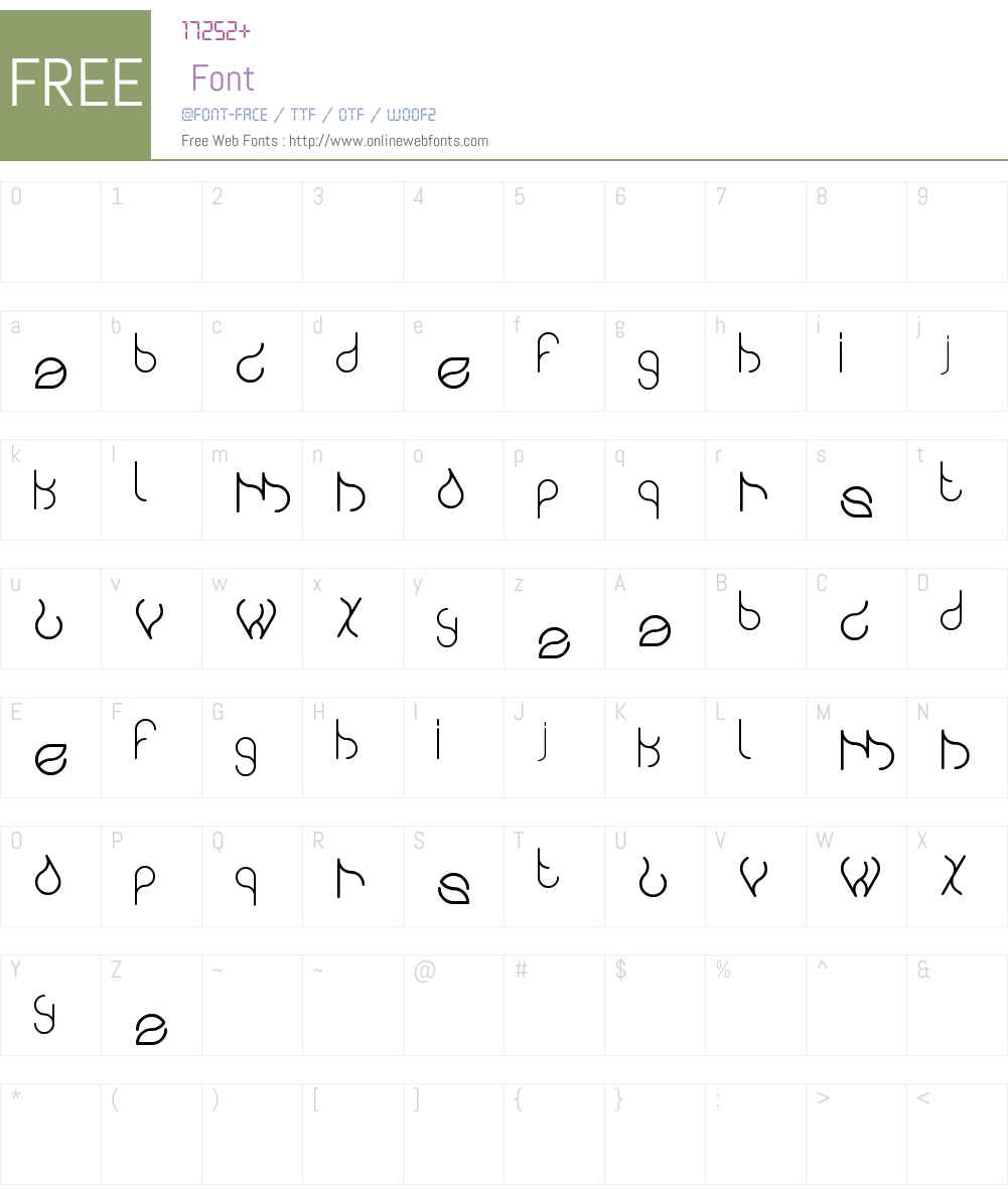 swingingswan Font Screenshots