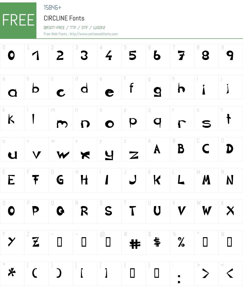 CIRCLINE Font Screenshots