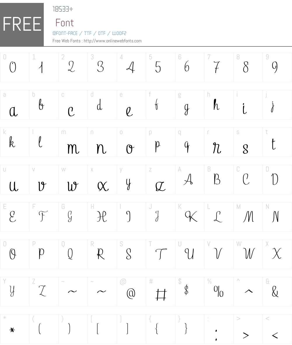 LinguineW01-Regular Font Screenshots