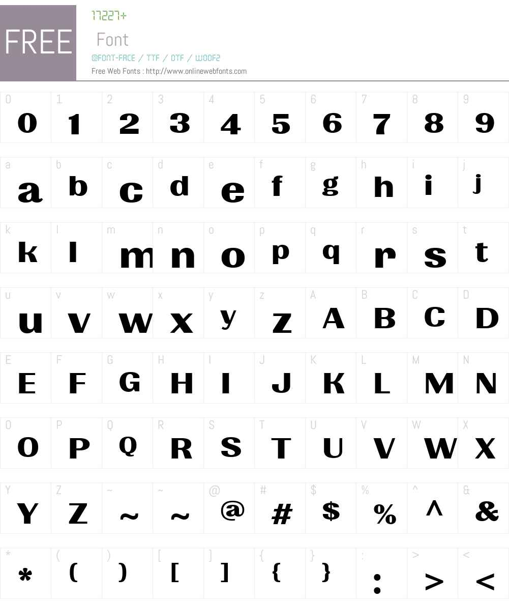 Quilon Font Screenshots