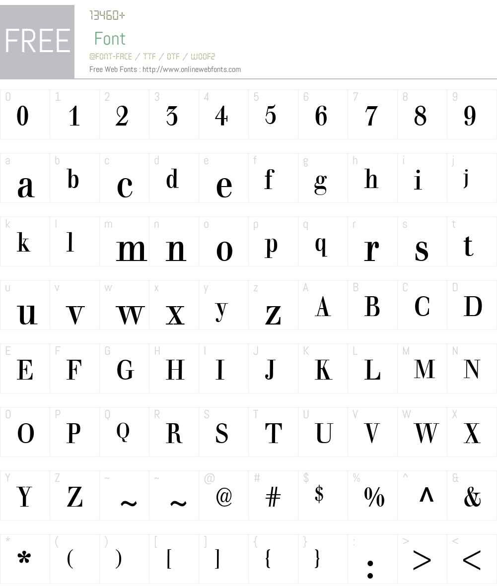 BaumWell Font Screenshots