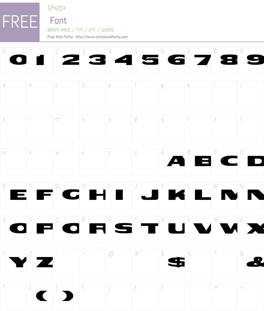 WoodtypeGothicExtended Font Screenshots