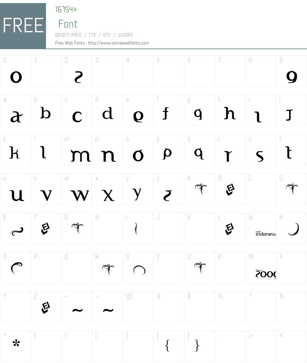 Indonesiana Serif Free ;) Font Screenshots