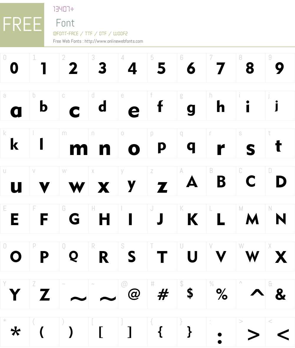 Geometr415 Blk BT Font Screenshots