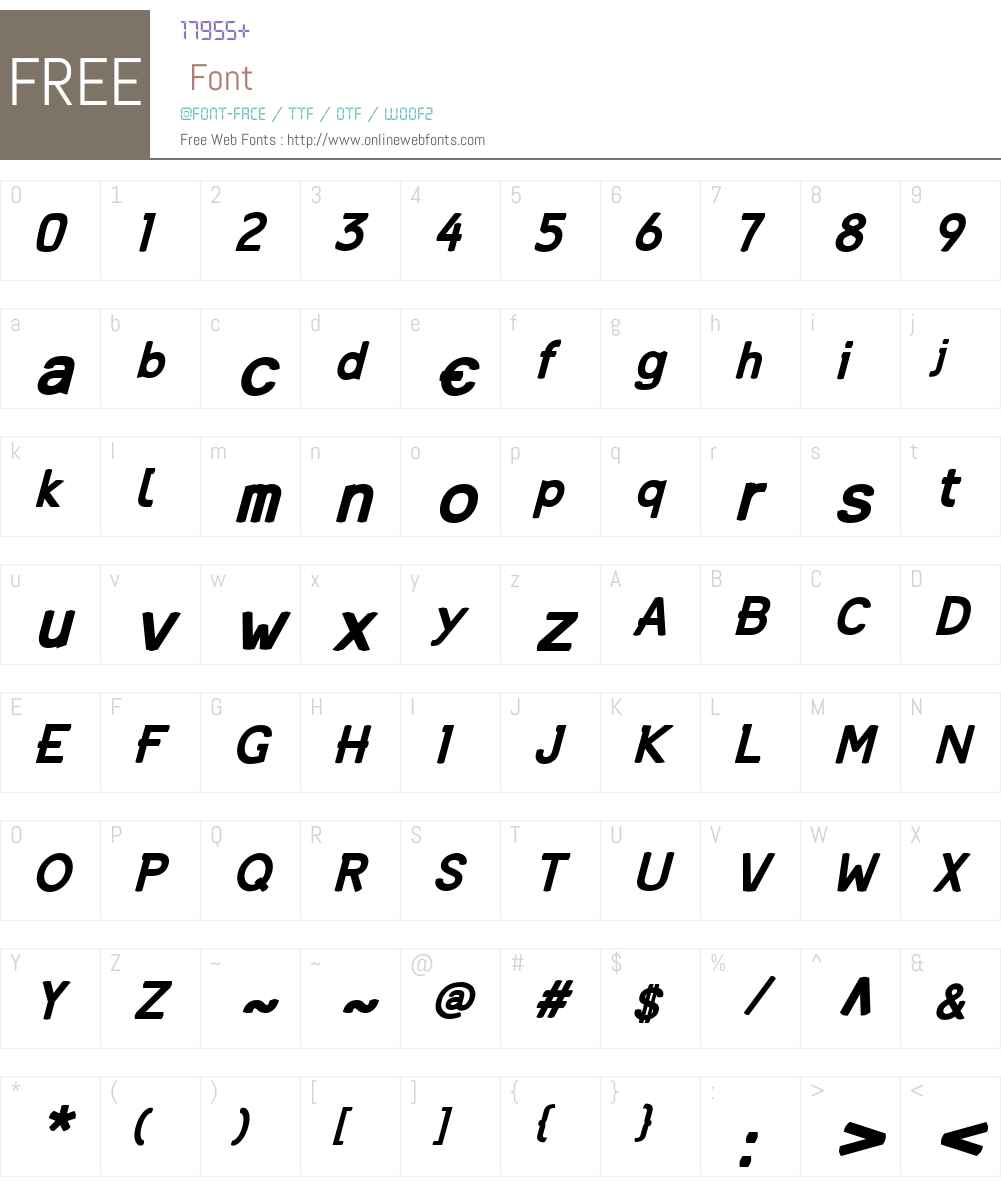 Mandin Font Screenshots