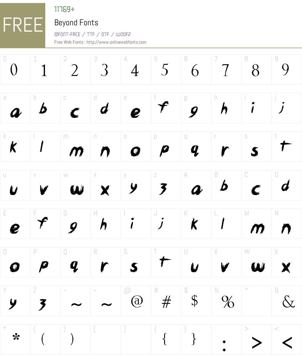 Beyond Font Screenshots