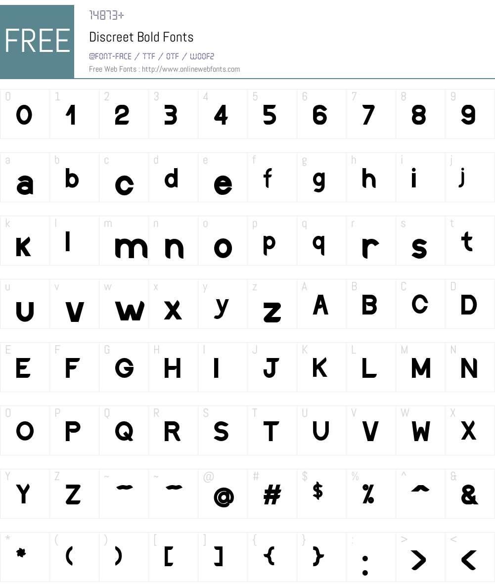 Discreet Font Screenshots