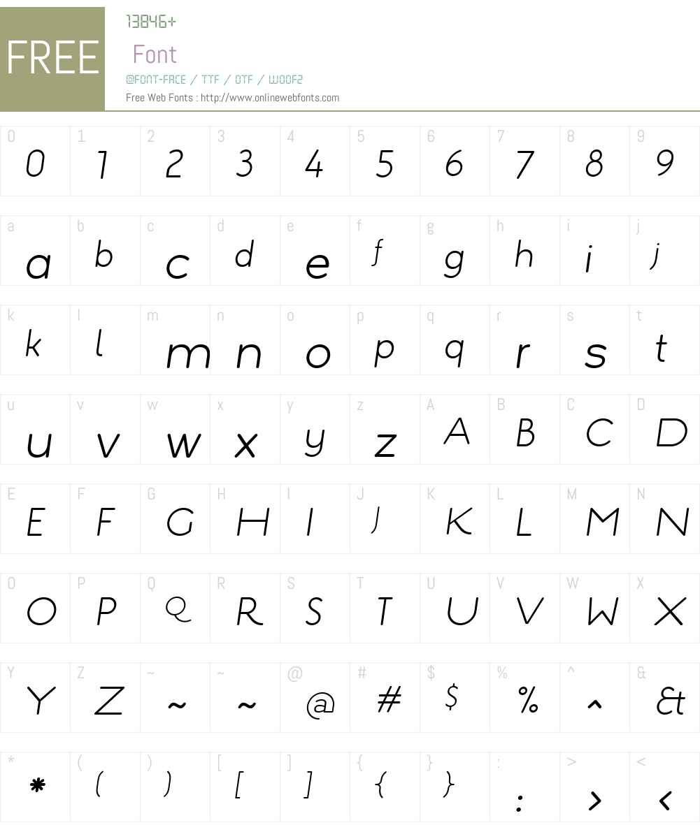 EstiloW01-TextLightItalic Font Screenshots
