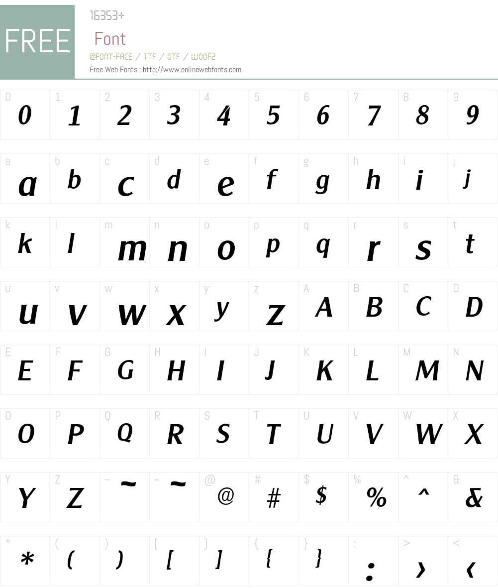 Cleargothic-MediumIta Font Screenshots