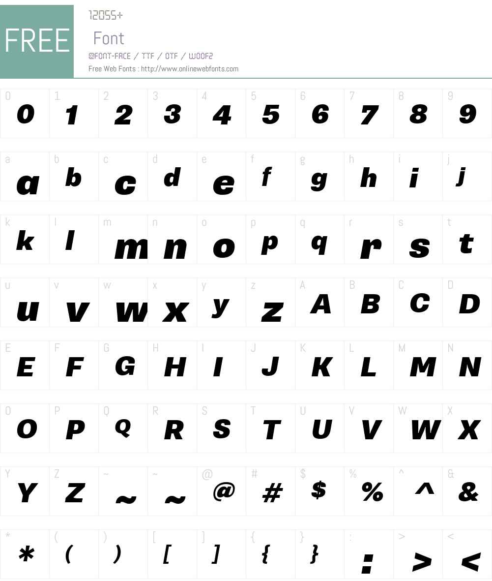 SupriaSansW01-BlackOblique Font Screenshots