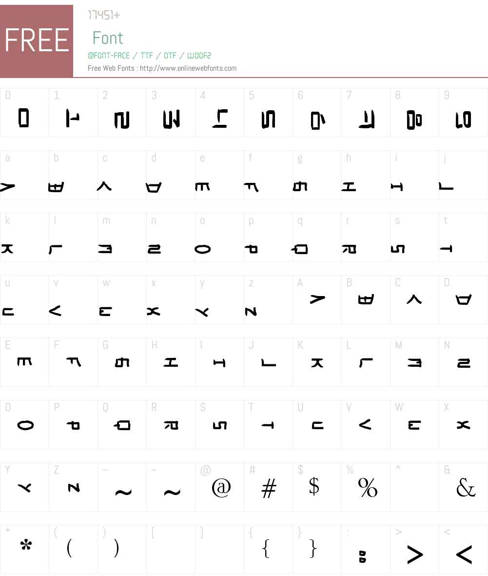 HaNgUl LoVe Font Screenshots