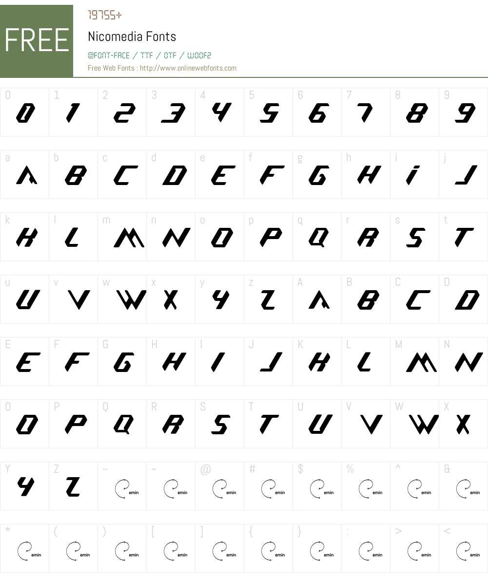Nicomedia Font Screenshots
