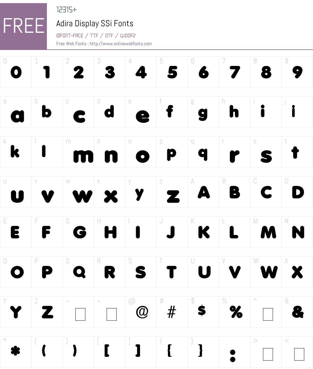 Adira Display SSi Font Screenshots