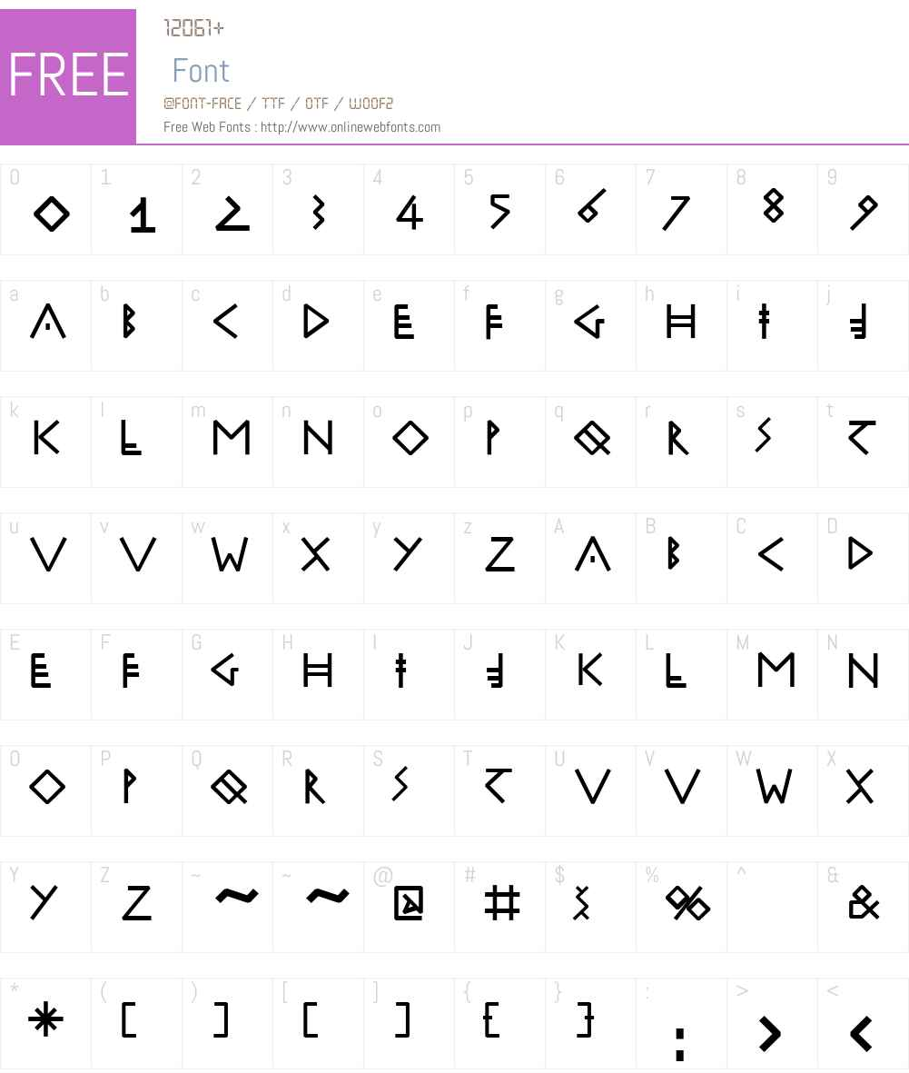 RuniK100 Font Screenshots