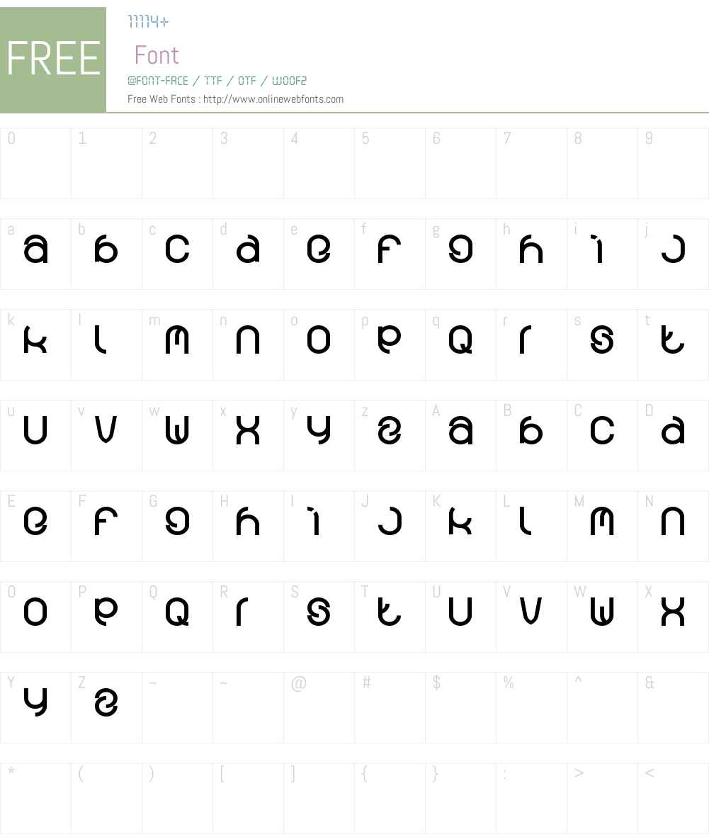 funrecord Font Screenshots