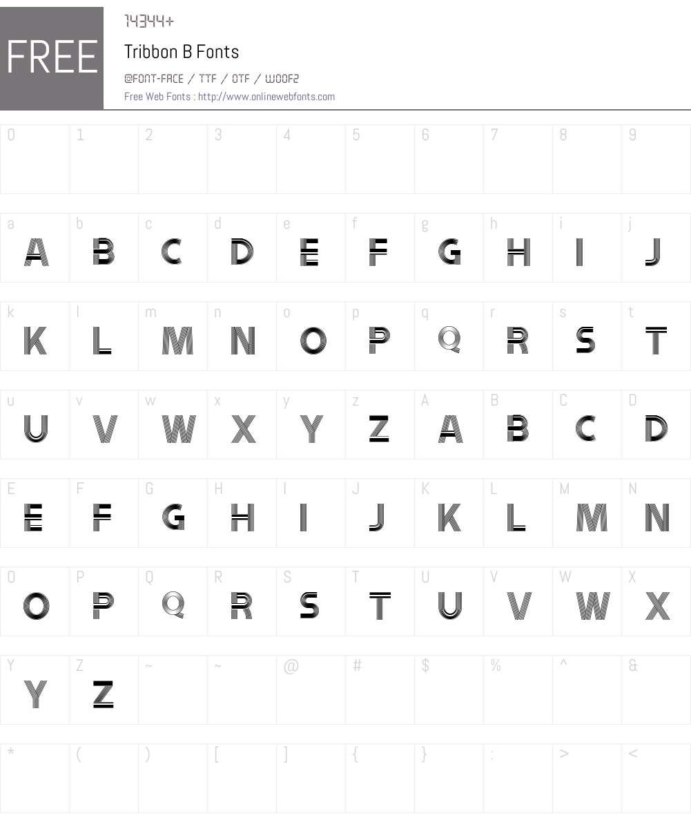 Tribbon B Font Screenshots