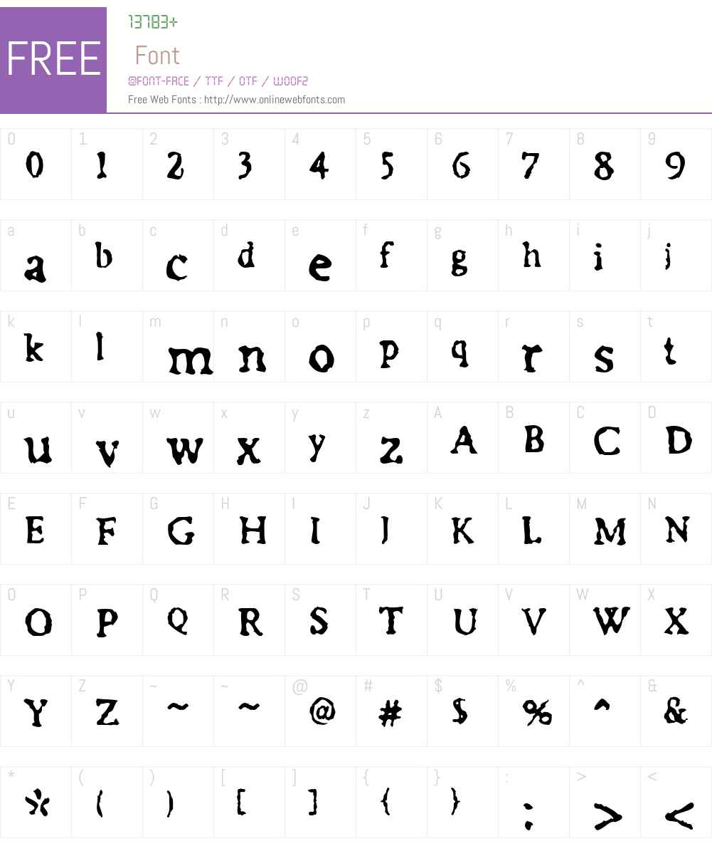 FF Irregular Font Screenshots