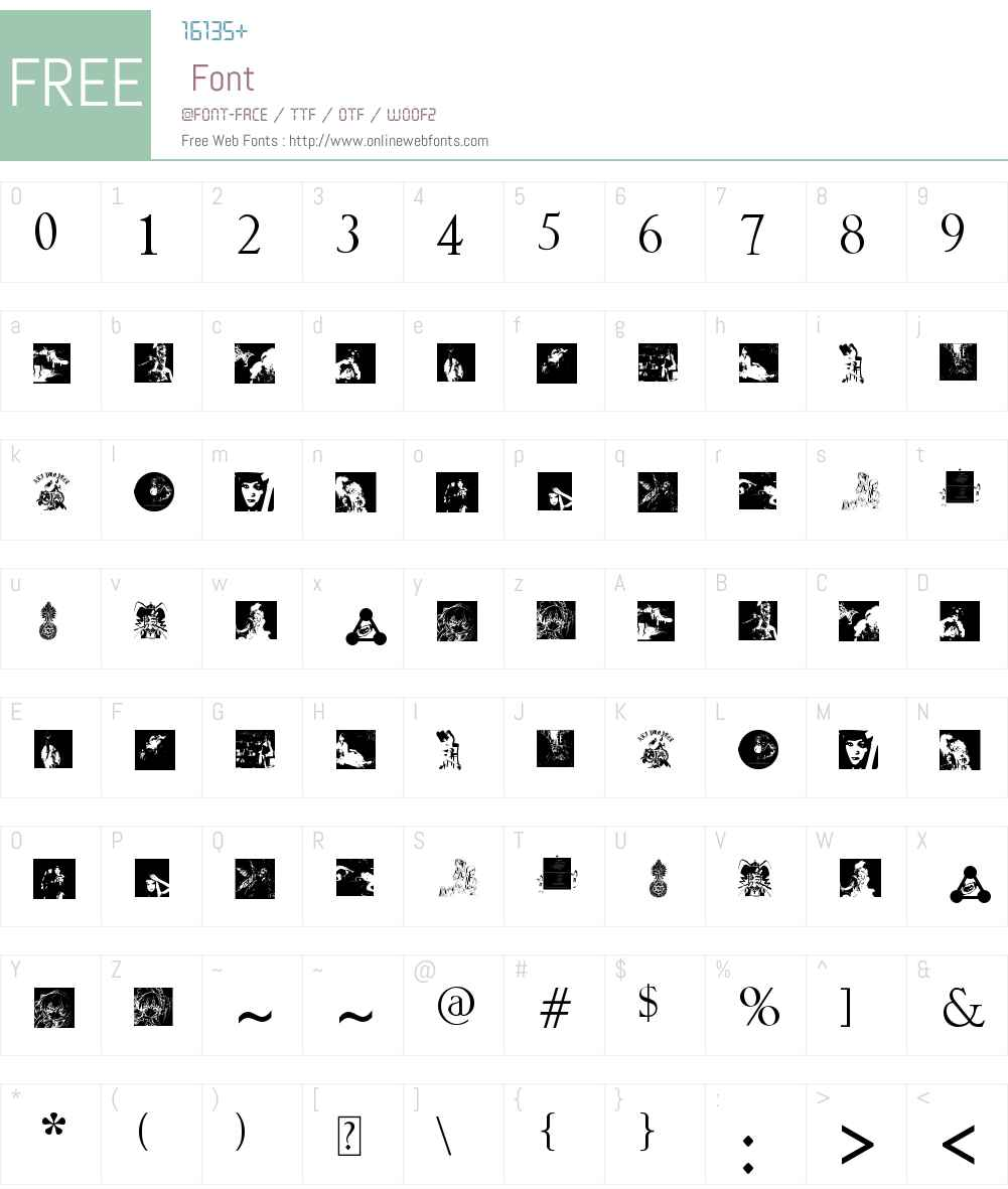 Ali Project Font Screenshots