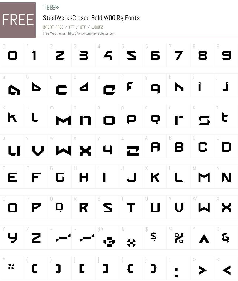 StealWerksClosedBoldW00-Rg Font Screenshots