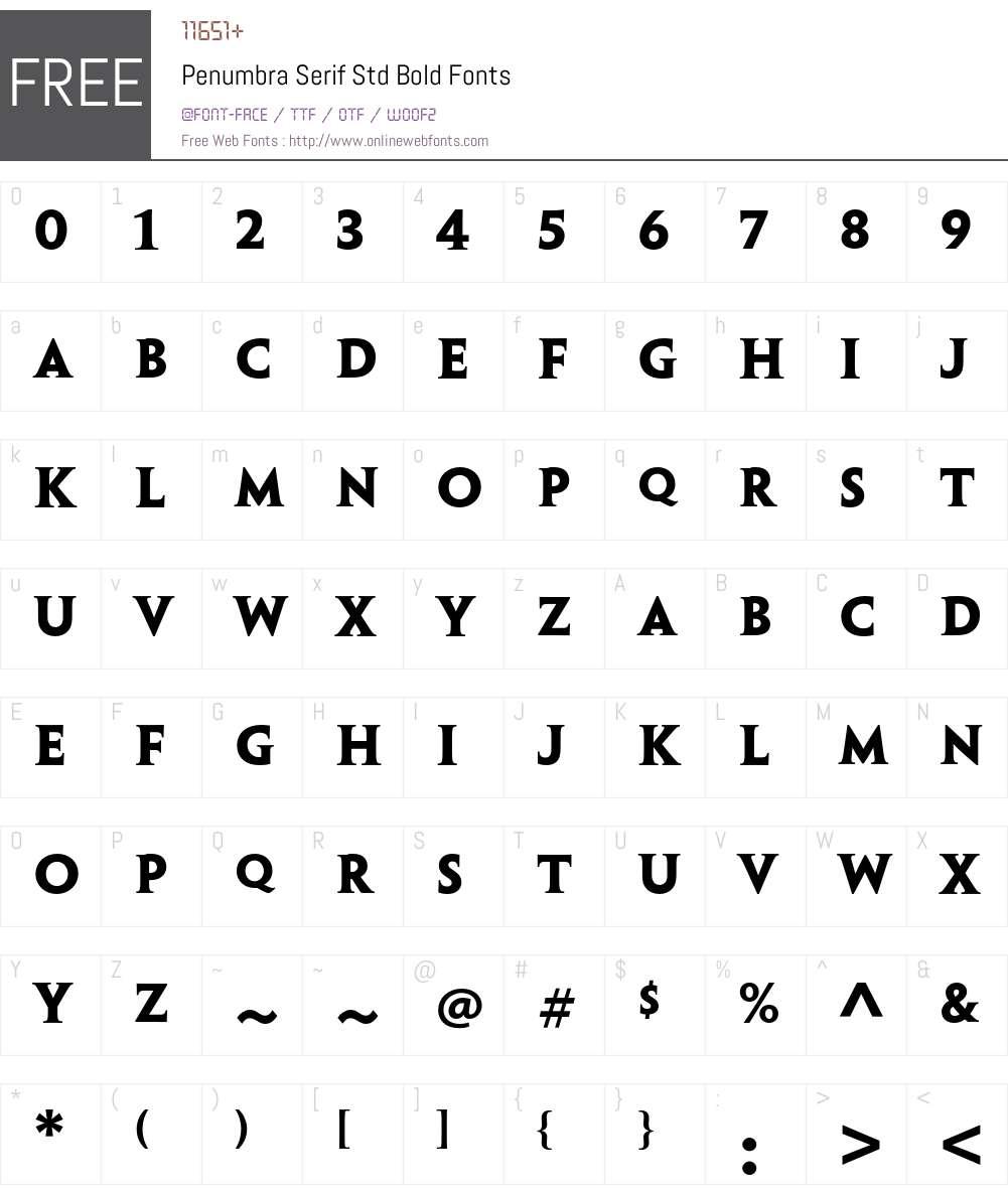 Penumbra Serif Std Font Screenshots